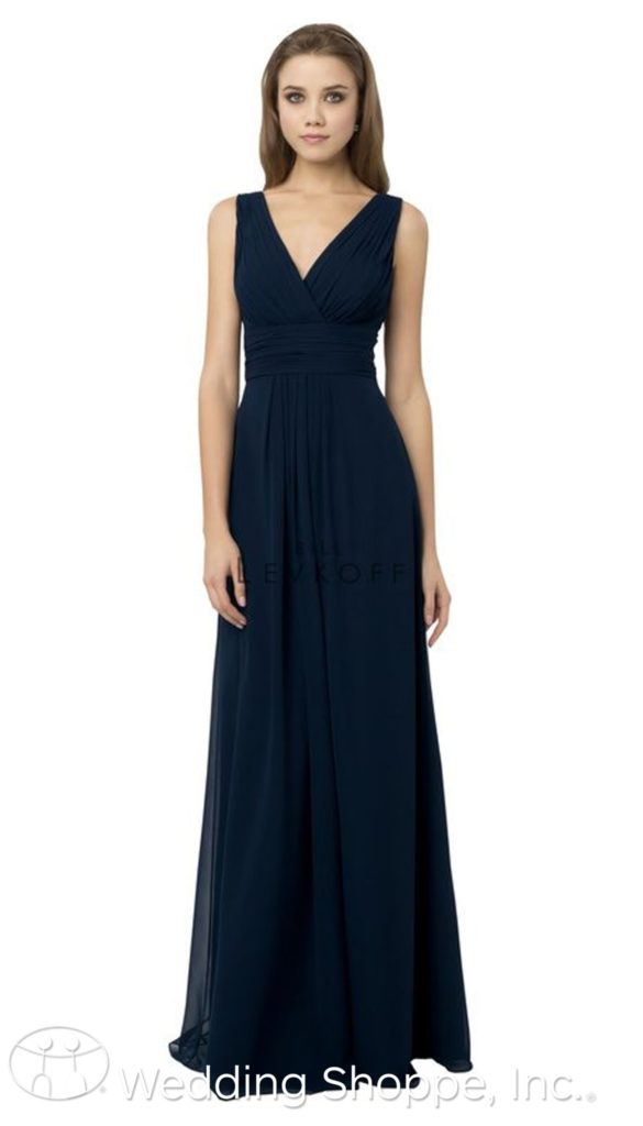 deep v-neckline bridesmaid dress | Bill Levkoff Bridesmaid Dresses
