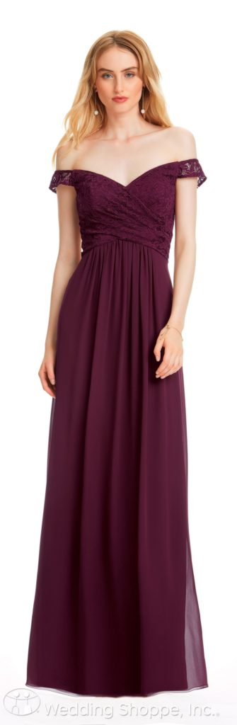 portrait neckline bridesmaid dress | Bill Levkoff Bridesmaid Dresses