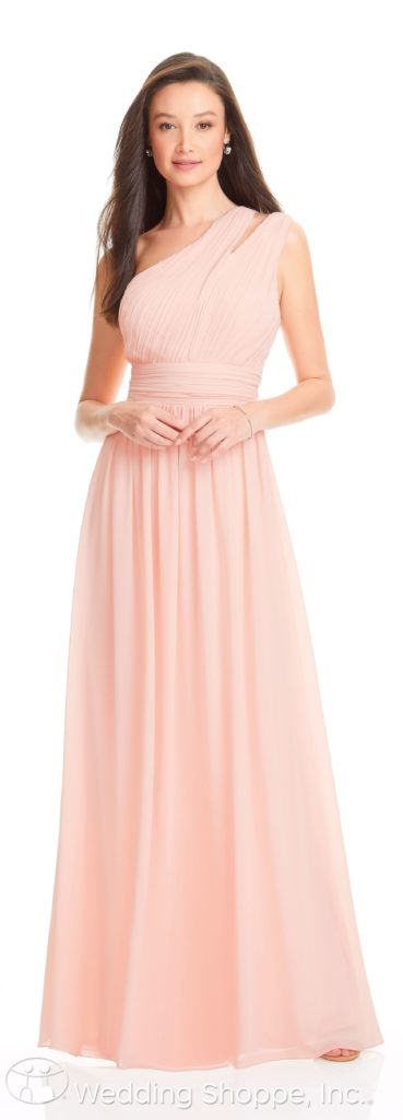 one-shoulder bridesmaid dress | Bill Levkoff Bridesmaid Dresses