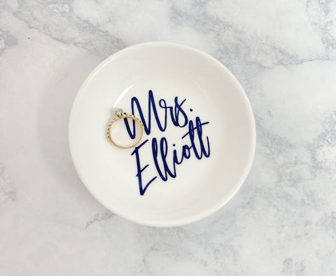 Personalized Mrs. Ring Dish