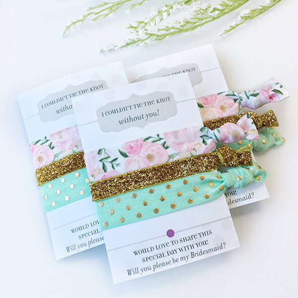 Hair Ties Bridesmaid Proposal Gift