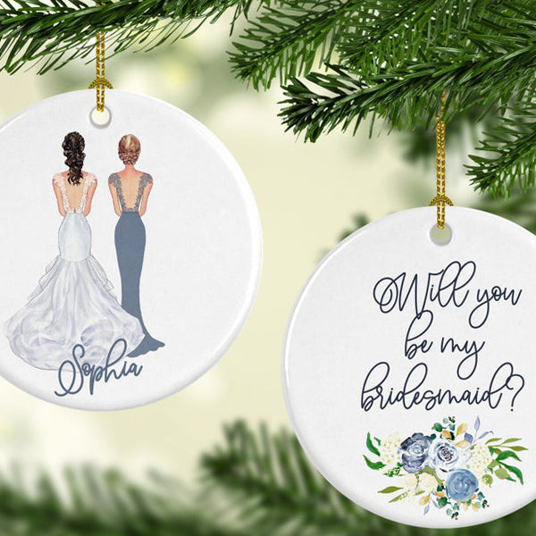 Christmas Ornament Bridesmaid Proposal Gift