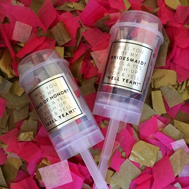 Confetti Poppers Bridesmaid Proposal Gift