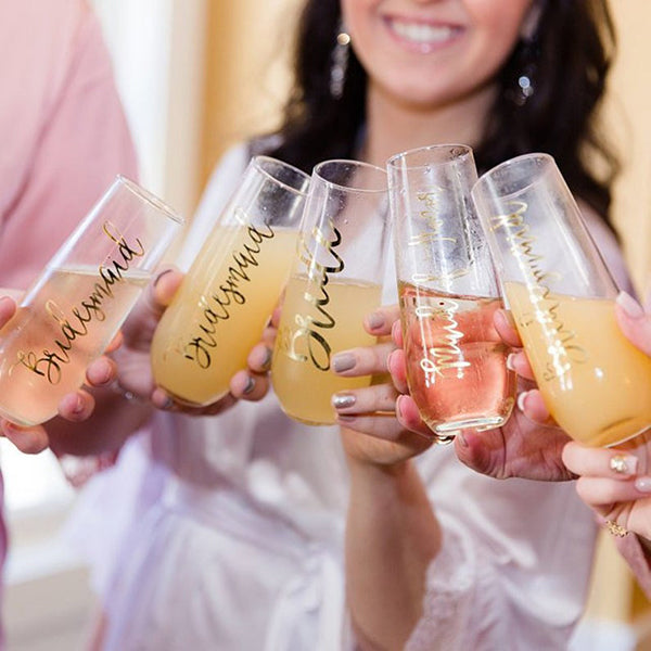 Custom Champagne Glasses Bridesmaid Proposal Gift