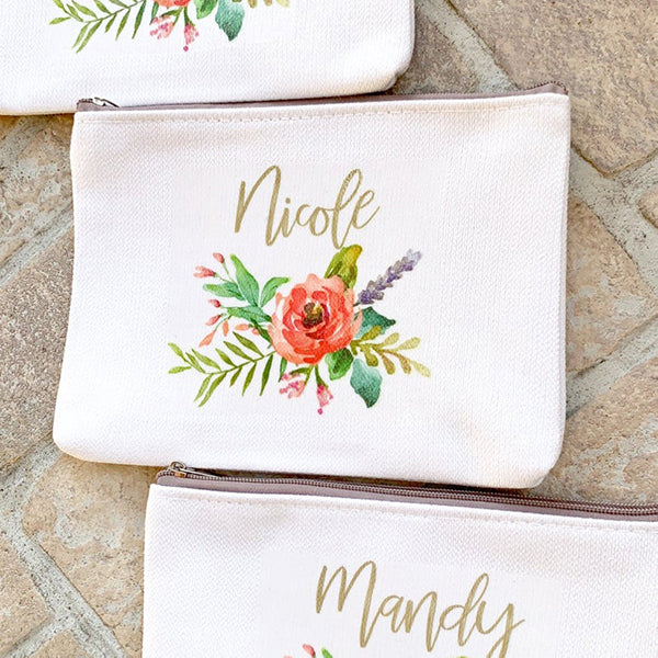Custom Cosmetic Bag Bridesmaid Proposal Gift