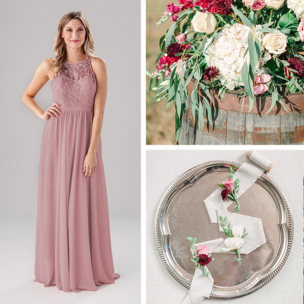 Wedding Shoppe Bridesmaids Dresses Kennedy Blue Desert Rose Pink