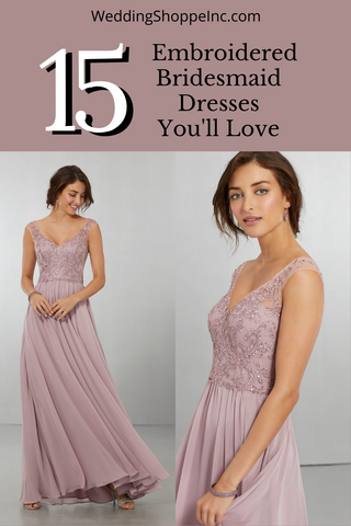 15 Embroidered Bridesmaid Dresses You'll Love