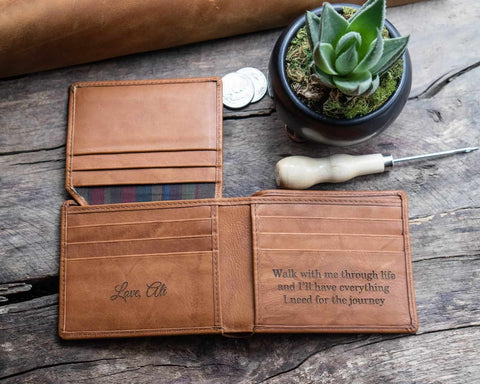 Engraved Wallet for Groom