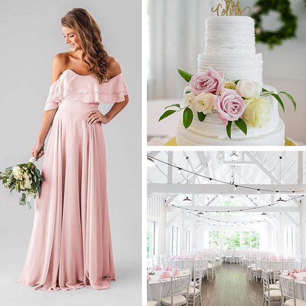 Wedding Shoppe Bridesmaids Dresses Kennedy Blue Blush Pink