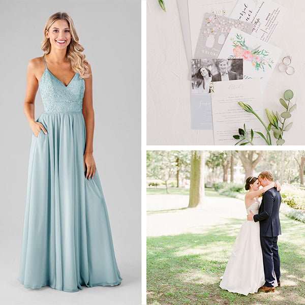 Wedding Shoppe Bridesmaids Dresses Kennedy Blue Mint