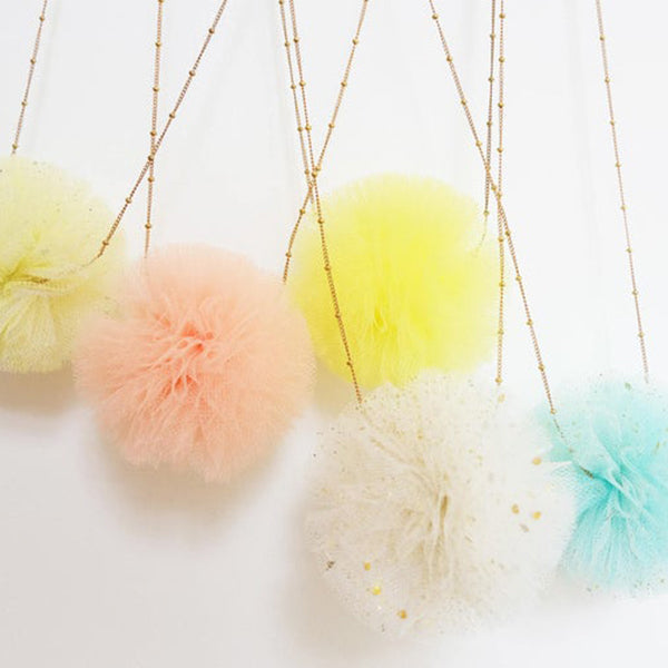 Pom Pom Necklace Bridesmaid Proposal Gift