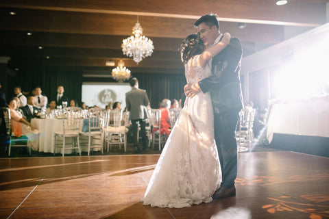 Bride and Groom having their First Dance.
