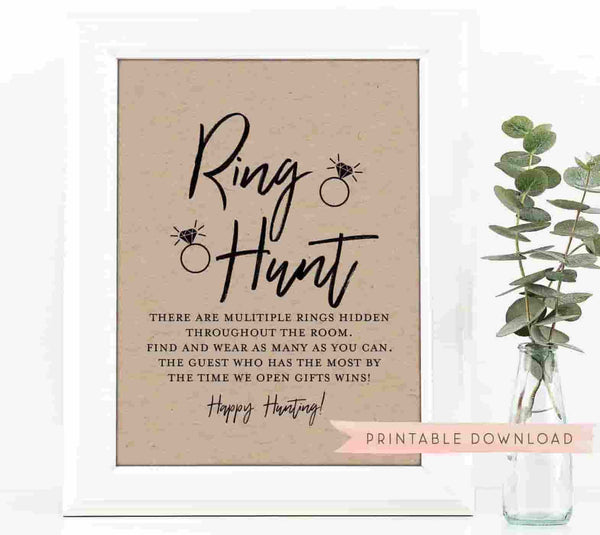 Ring Hunt Bachelorette Party Game