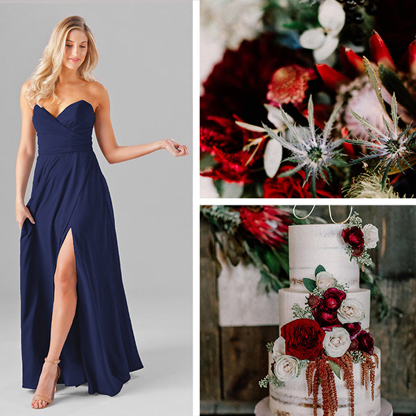 Wedding Shoppe Bridesmaids Dresses Kennedy Blue Sapphire Blue
