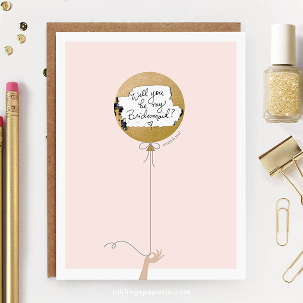Scratch Off Card Bridesmaid Proposal Gift