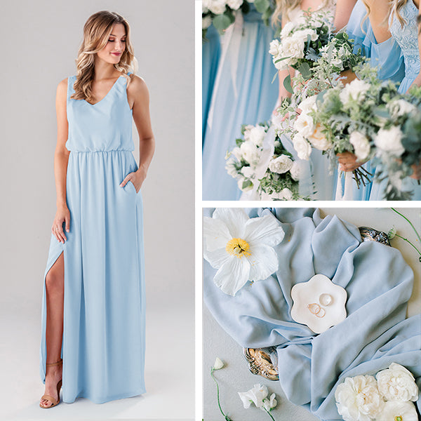 Wedding Shoppe Bridesmaids Dresses Kennedy Blue Sky Blue