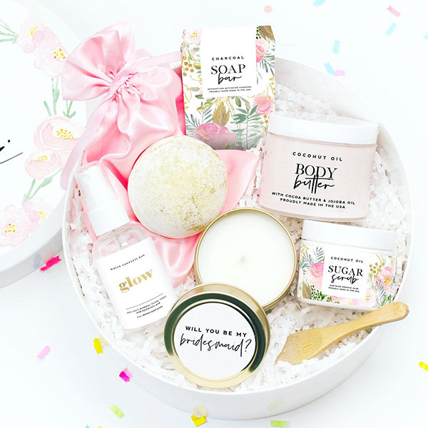 Spa Products Bridesmaid Proposal Gift