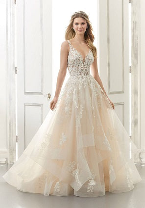 Lacy A Line Tulle Wedding Dress