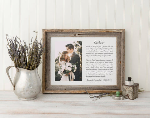 Framed Wedding Vows