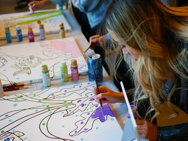 Wine and Paint Bachelorette Party