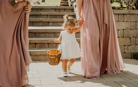 flower girl with bridesmaid