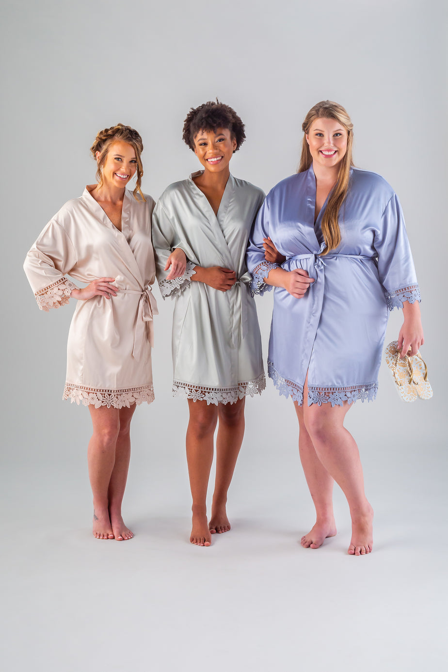 Satin And Lace Bridal And Bridesmaid Robes The Wedding Shoppe
