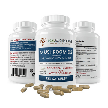 Vitamin D from Organic Mushrooms