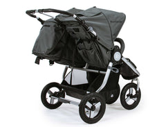 Bumbleride Indie Twin Double Stroller Dawn Grey Coral Rear View
