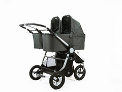 Bumbleride Indie Twin Bassinet On Indie Twin Stroller - Dawn Grey Global