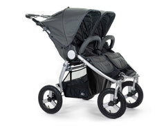 2020 Bumbleride Indie Twin Double Stroller in Dawn Grey - Front - UK