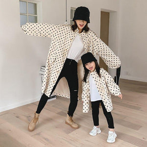 Creme` & Polk Dots Jacket - Gorgeously Boutique