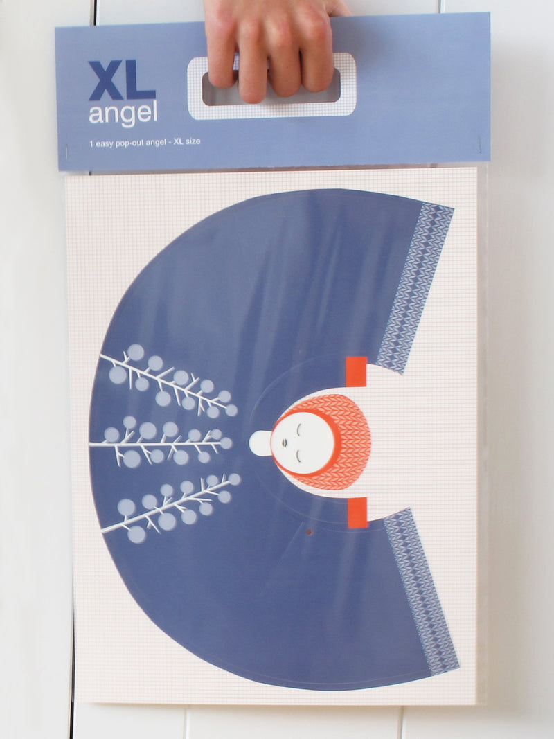 XL angel blue red