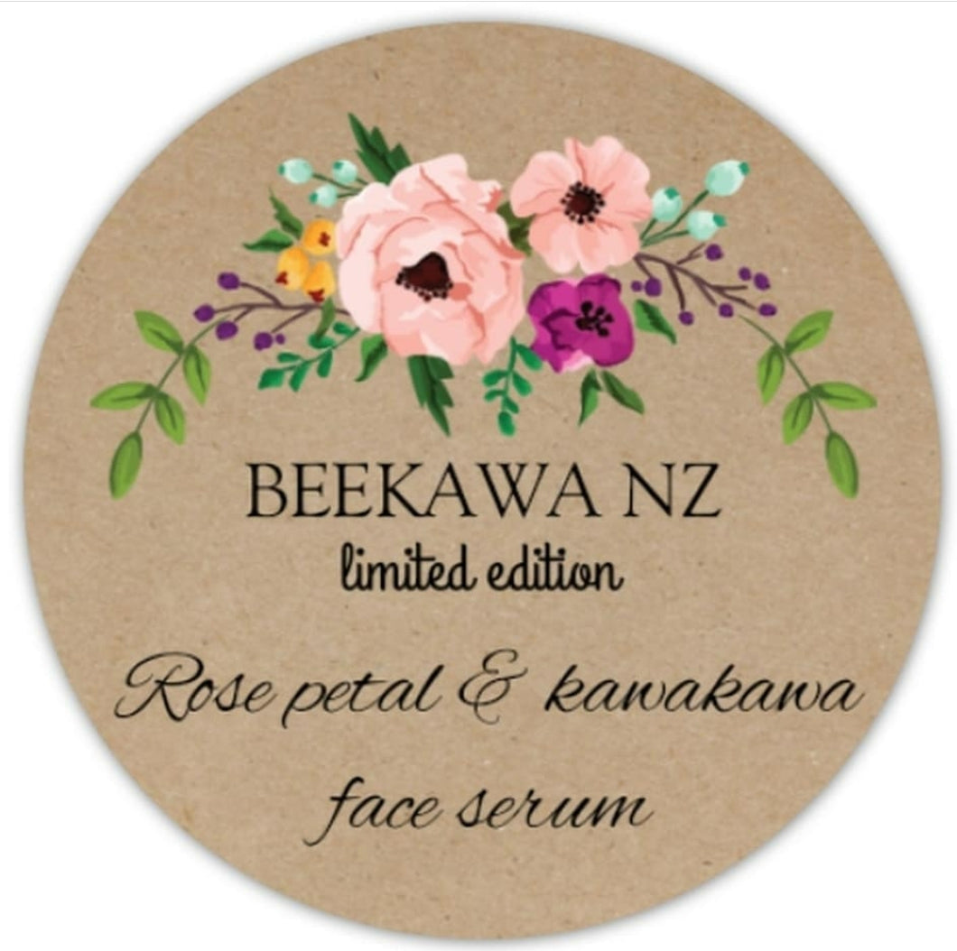 Beekawa Rose Petal & kawakawa face / hair serum