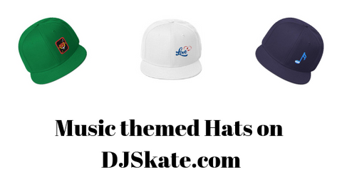Music Themed Hats Dj Skate