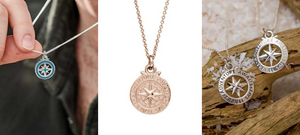 The meaning and symbolism of compass jewellery | Plus NEW Off The Map compass pendants