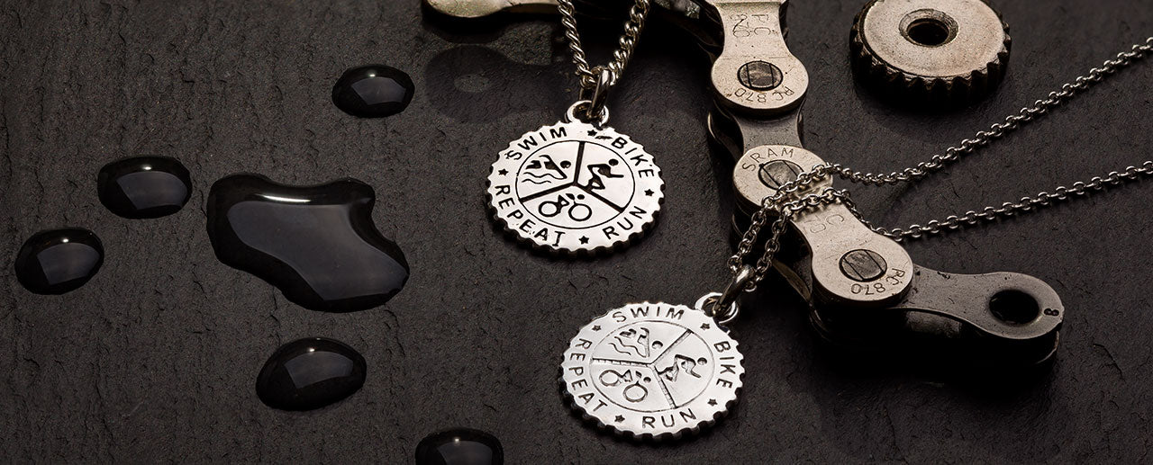 NEW Triathlon silver necklaces