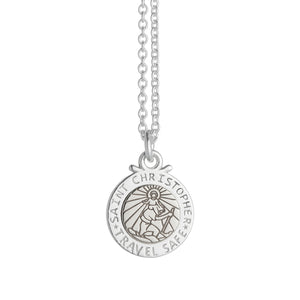 Personalised St Christopher Silver Necklace