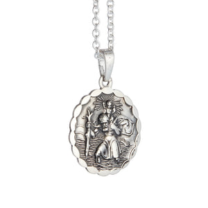 mens antique finish silver saint christopher gift idea for daughter birthday