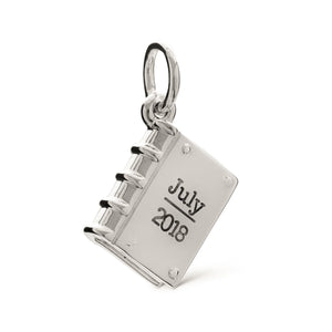 Personalised story of your life book charm off the map jewellery