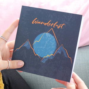 Wanderlust greeting gift card for someone going away travelling