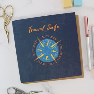 Good luck traveller gift card compass design