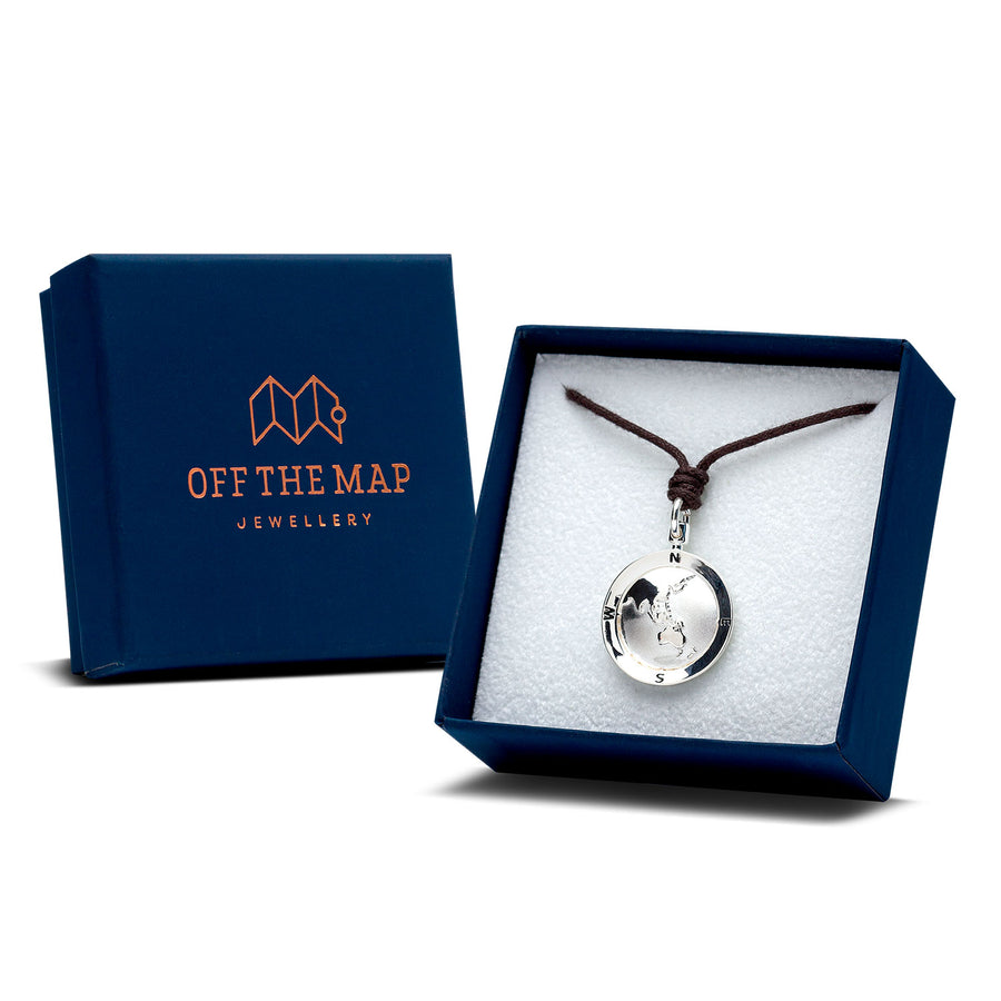 Off The Map St Christopher Silver Necklace
