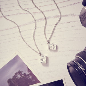 Camera Silver Necklace - Vintage SLR Camera Pendant for photographers and travellers