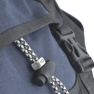 Unusual travel gift silver rucksack good luck travel talisman from Off The Map Jewellery Brighton
