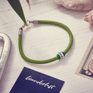 Wanderlust Leather Bracelet Alternative Silver St Christopher
