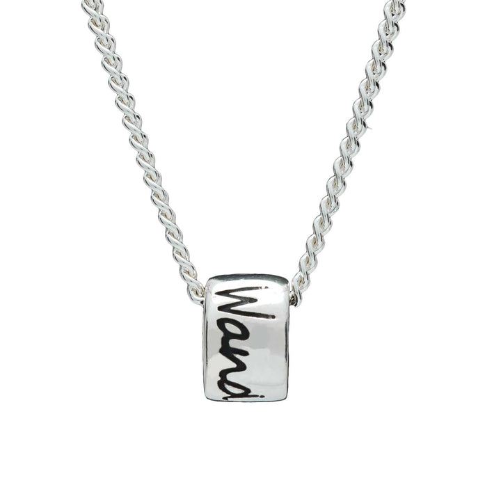 Wanderlust silver necklace for men & women - gap year travel gift alternative to a silver St Christopher