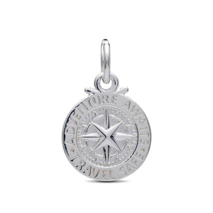 personalised travel safe alternative saint christopher silver charm for bracelets or necklace