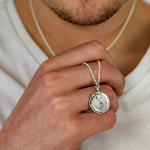 american map globe pendant necklace solid silver mans travel gift emigration