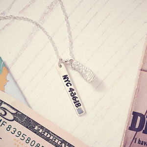 Marathon Runner born to run necklace gift for runners