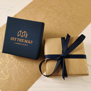travel gift wrap off the map jewellery